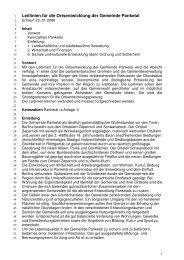 Leitlinien für die Ortsentwicklung der Gemeinde Panketal