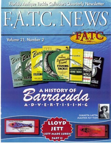 Volume 21, No. 2 - April, 2007 - Florida Antique Tackle Collectors