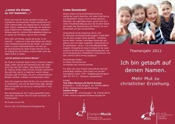 Flyer 2013 - Ev.-luth. St. Pankratius-Kirchengemeinde Burgdorf