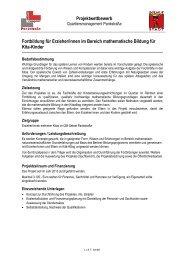 Projektwettbewerb Fortbildung für Erzieher/innen im Bereich ...