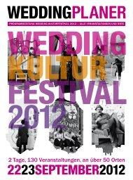 2 Tage, 130 Veranstaltungen, an über 50 Orten - Wedding ...