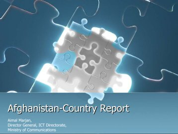Afghanistan-Country Report - PAN Localization