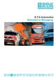 E-T-A Automotive Sicherheit in Bewegung.