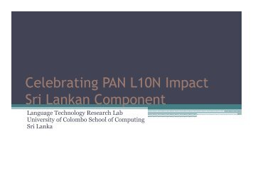 Sri Lanka - PAN Localization