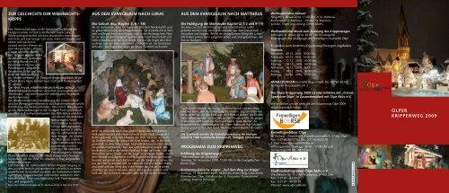 Olper Krippenweg 2009 - Pastoralverbund Olpe-Biggesee