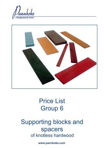 Preisliste / price-list - Pannkoke Flachglastechnik GmbH
