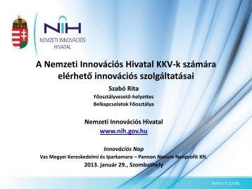 Szabó Rita – főosztályvezető-helyettes, Nemzeti Innovációs Hivatal