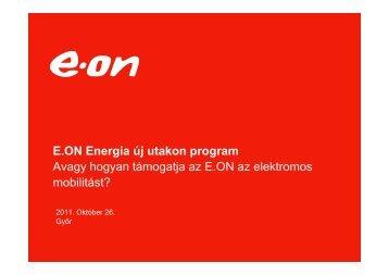 Hogyan támogatja az E.ON az elektromos mobilitást