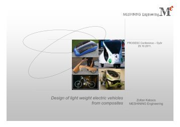 Design of light weight electric vehicles from composites