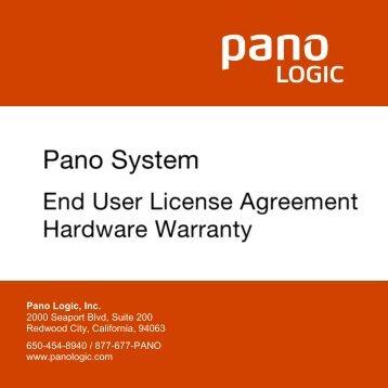 Pano System 6.0 - EULA and Hardware Warranty - Pano Logic