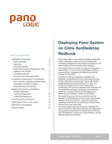 Redbook - Pano System on Citrix XenDesktop - Pano Logic