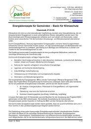 Energiekonzepte für Gemeinden - panSol