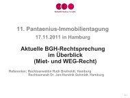 vnw – Seminar 13.09.2011 Rostock - Pantaenius