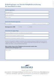 Risikofragebogen zur Betriebs-Haftpflichtversicherung ... - Pantaenius