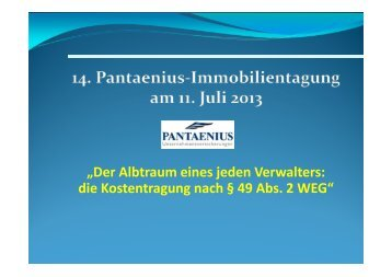 Verwalter - Pantaenius