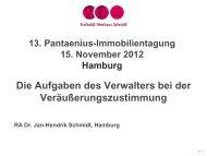 Dr. Jan-Hendrik Schmidt - Die Aufgaben des Verwalters - Pantaenius