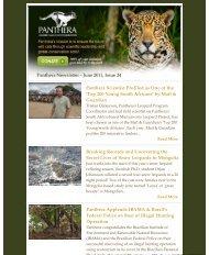 June 2011 Newsletter - Panthera