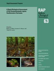 A Rapid Biological Assessment of the Kwamalasamutu region