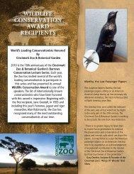 2010 Cincinnati Zoo Wildlife Conservation Award - Panthera