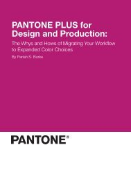 PANTONE PLUS for Design and Production: