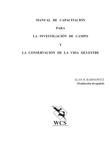 MANUAL DE CAPACITACIÓN PARA LA ... - Panthera