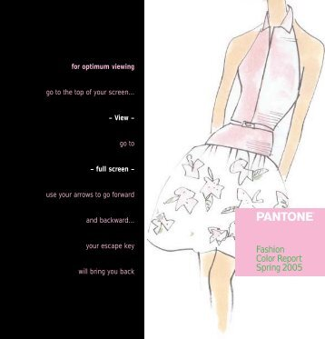 Fashion Color Report Spring 2005 - Pantone