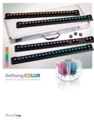 Munsell Defining Color Brochure - X-Rite