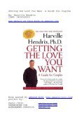 Getting the Love You Want A Guide for Couples By ... - Paolo Cirio - Page 2