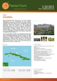 Reise-Katalog Hike&Bike; - Papaya Tours