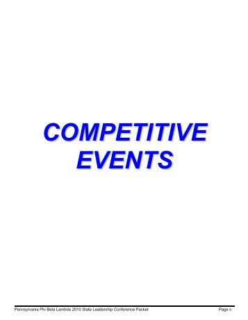 Editable SLC Competitive Event Registration Forms - Pennsylvania ...