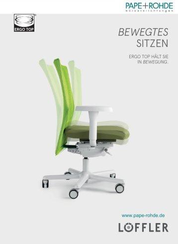 Die Ergonomie des bewegten Sitzens - Pape+Rohde
