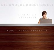 Katalog P + R INNOVATION Konferenztische - Pape+Rohde