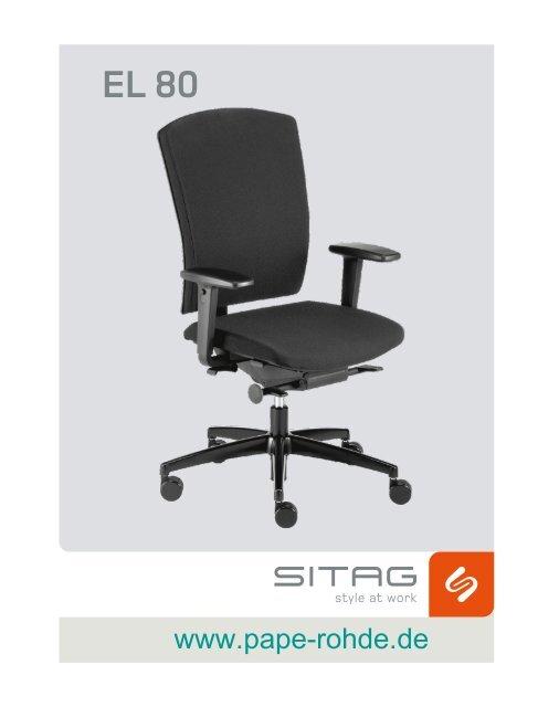 Bedienungsanleitung Bürostuhl Sitag EL 80 ... - Pape+Rohde