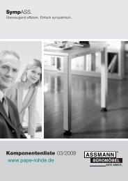 Typen- u. Systemübersicht der ASSMANN SympASS ... - Pape+Rohde