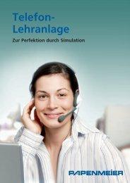 Datenblatt Telefon-Lehranlage - FH Papenmeier GmbH & Co. KG