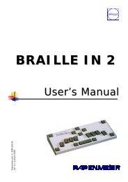 braille in 2 - FH Papenmeier GmbH & Co. KG