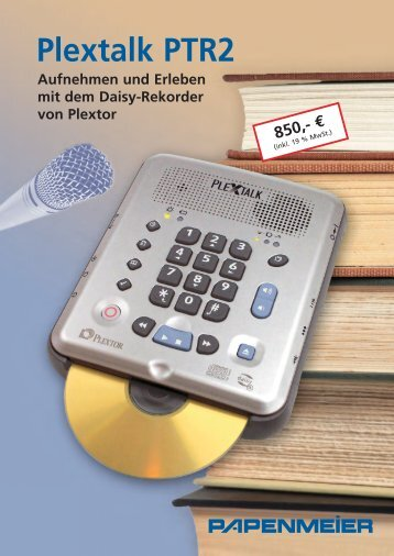 Datenblatt Plextalk PTR2 - FH Papenmeier GmbH & Co. KG