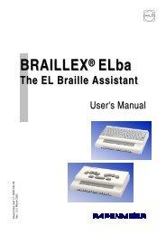 BRAILLEX ® ELba - FH Papenmeier GmbH & Co. KG