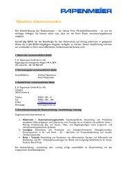 Öffentliches Verfahrensverzeichnis - FH Papenmeier GmbH & Co. KG