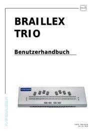 Benutzerhandbuch BRAILLEX TRIO - FH Papenmeier GmbH & Co. KG