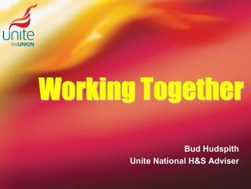 Bud Hudspith, Unite the Union