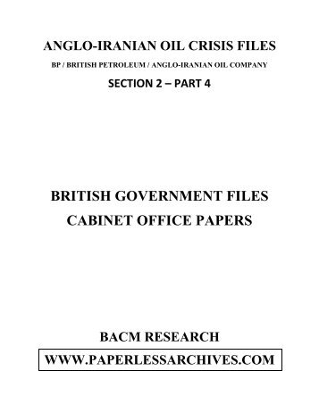 british government files part 4 - Paperless Archives