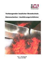 Vorbeugender baulicher Brandschutz - Brandschutz Tirol