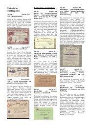 Historische Wertpapiere: - Papierania