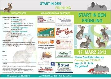 START IN DEN FRÜHLING 17. MÄRZ 2013 - Pappenheim.info