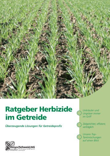 Ratgeber Herbizide im Getreide - Papst.ch