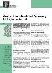 Große Unterschiede bei Zulassung biologischer Mittel - Papst.ch