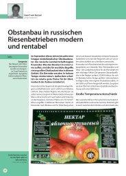 Obstanbau in russischen Riesenbetrieben modern und ... - Papst.ch