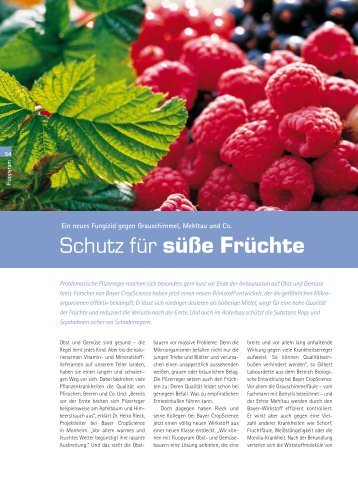 Schutz für süße Früchte - Research