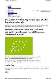 Die Online-Abstimmung für das neue EU-Bio- Logo ist ... - Papst.ch
